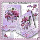 Lilac Roses Tent Easel Card Kit