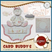 Baby Girl Wavy Edged Over The Top Card Kit