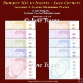 Bumper Kit 10 Inserts - Lace Corners
