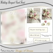 Wedding Bouquet Card Front