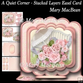 A Quiet Corner - Stacked Layers Easel Card