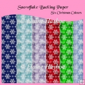 Snowflakes Backing Papers