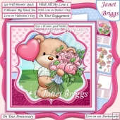 BERTIE'S BOUQUET 7.5 All Occasion Decoupage & Insert Kit