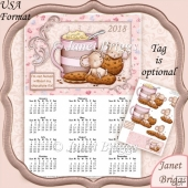 CHOCOLATE FIX 2018 A4 USA Calendar with Decoupage Kit