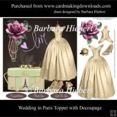 Wedding in Paris Topper with Decoupage