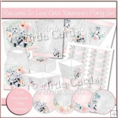 Raccoons In Love Gold Valentine's Party Set