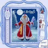 TRADITIONAL SANTA IN RED 7.8 Christmas Decoupage Kit