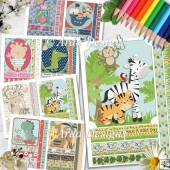 Cute Animals Card Making Set