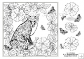 "Fox In The Roses 8"" x 8"" Digi Stamp With Decoupage"