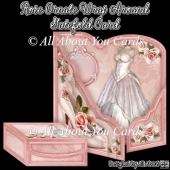 Rose Ornate Wrap Around Gatefold Card