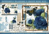 BUTTERFLY BLOSSOMS 4 SHEET MINI KIT Blue