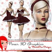 Pretty Ballerina Girl Poser Graphics Set 2