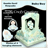 Baby Boy Gazebo Card