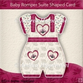 Baby Romper Suite Shaped Card pink Ladybug
