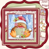 CHRISTMAS ROBIN WARM WINTER WISHES 7.5 Decoupage & Insert Kit