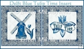 Delft Blue Tulip Time Card Insert
