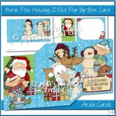 North Pole Holiday Z Fold Pop Up Box Card
