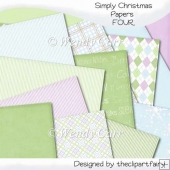 Simply Christmas Papers 4(Retiring in August)