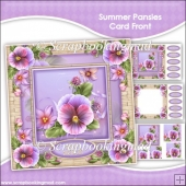 Summer Pansies Pyramage Card Front Kit