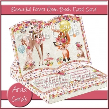 Beautiful Forest Open Book Easel Card with Optional Drawer