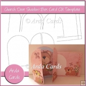 Church Door Shadow Box Card CU Template
