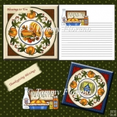 Pumpkin Pie Card Decoupage