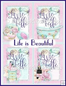 Life is Beautiful Pastel Watercolor Feminine Paris Chic Tags