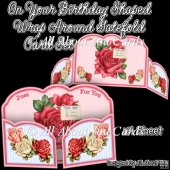 On Your Birthday Shaped Wrap Around Gatefold Card