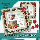 Snowglobe 7x7 Christmas Card Front