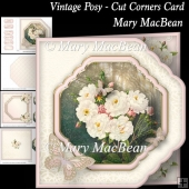Vintage Posy - Cut Corners Card