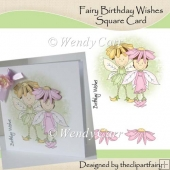 Ready to Print Card - Fairy Birthday Wishes(Retiring in July)