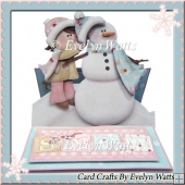 Make A Snowman Shaped Christmas Easel Card Kit