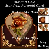 Autumn Gold Stand-up Pyramid Card
