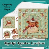 Rudolph Reindeer Cardfront