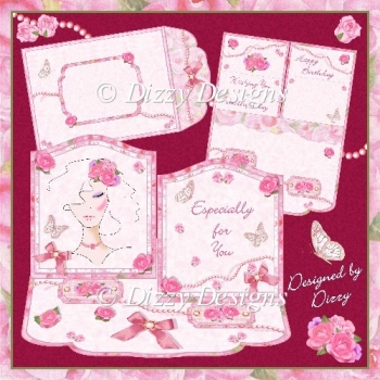 Rose Beauty - Double Staggered Easel Card