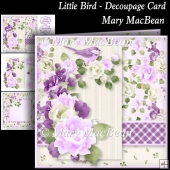 Little Bird - Decoupage Card