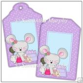 Lilac Mall Mouse Gift Tags - REF_T680 & REF_T681