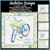 Pretty Blue Bicycle with Daisy Flower Basket - Mixed Sentiments