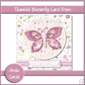 Thankful Butterfly 6x6 Card Front