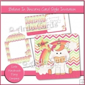 Believe In Unicorns Card Style Invitation