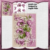 purple rose card and decoupage