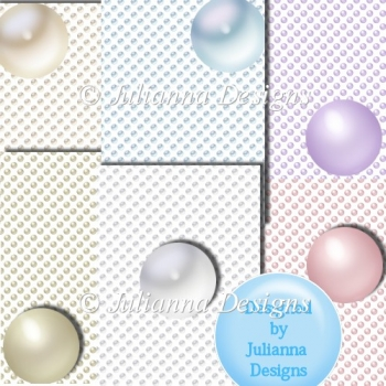 6 Pastel Dots Background Sheets