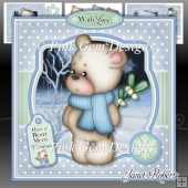 Barclay Bear With Mistletoe Mini Kit