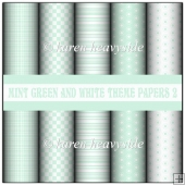 Mint Green And White Theme Papers 2