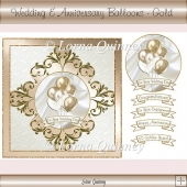 Wedding & Anniversary Balloons Card Front