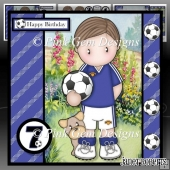 Football Andy Blue Mini Kit with Ages