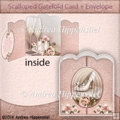 Scallloped Gatefold Card Wedding