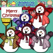 Happy Snowmen Clipart Collection