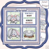 NOT ANOTHER GREY HARE 7.5 Humorous Quick Layer Card Kit