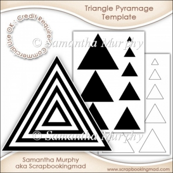 Triangle Pyramage Template Commercial Use Ok